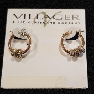 Liz Claiborne silver earrings